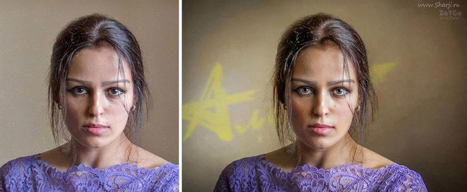 Фотографии до и после обработки в фотошопе