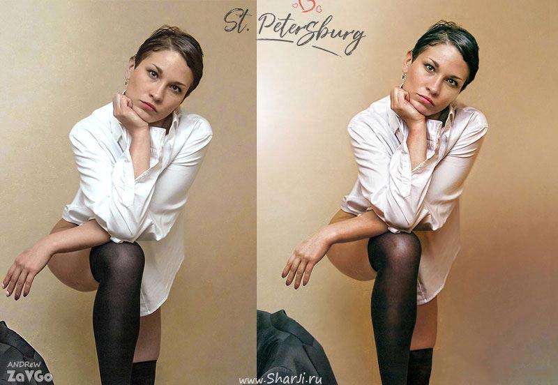 ретушь фото до и после фотосессии