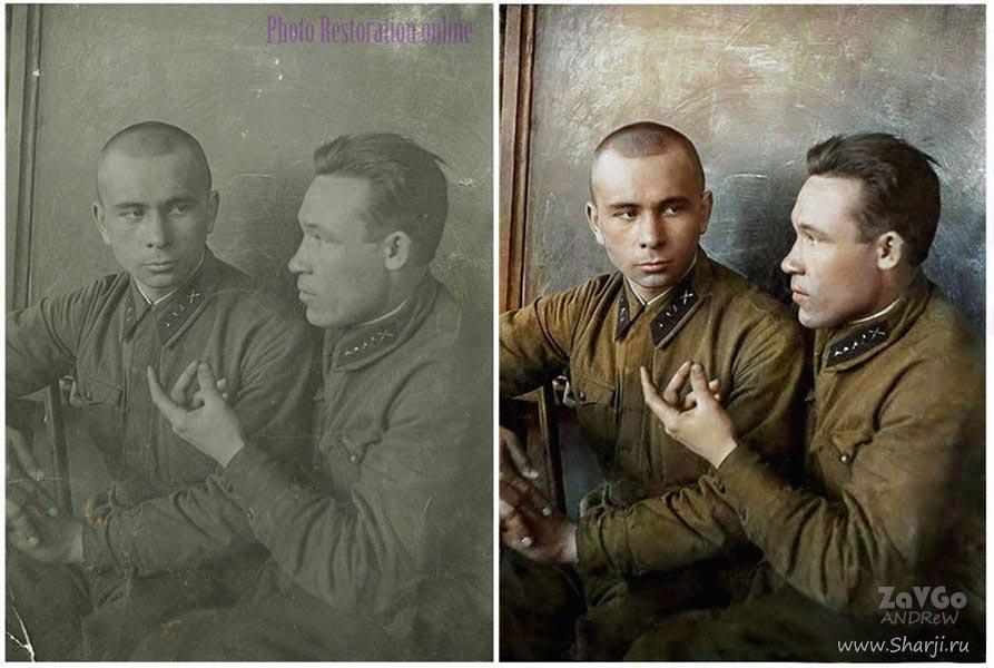 бессмертный полк реставрация военных фото