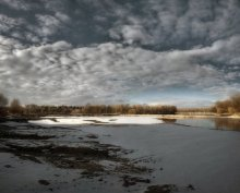 Комсомольское озеро 01 / Шесть вертикальных кадров - по три в два ряда
