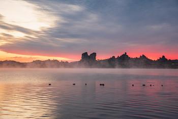 Краски летнего утра / Восход на озере