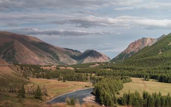 Долина реки / Горный Алтай