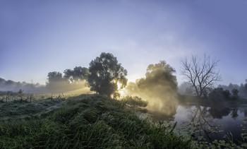 Миколині тумани... / 05.09.2021. Чернігівщина, річка Остер, село Бірки