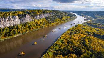 Река Вишера / Река Вишера, вид на камень Ветлан. Пермский край