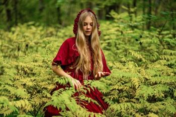 Красный капюшон / модель Кира Полевая платье предоставлено студией «Косплей»