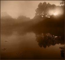 С первыми лучами / Утро на озере Снигяны