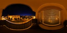 Abu ecy`im (Sphere) / Просмотр во флеше обязателен!  http://fertilizermods.narod.ru/photo/panorama/sphere/houses/5911_panorama.html  Равноугольная проекция сферической панорамы.  7 кадров книжной ориентации, штатив + панорамная головка.  ISO100 f/16 Et30s.