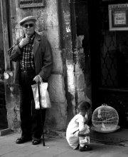 Дедушка, девочка, канарейки / Львов