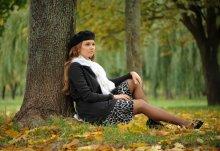 Раскрывая её осеннее настроение. часть 2. / модель Ирина. Осень 2009. Брест.