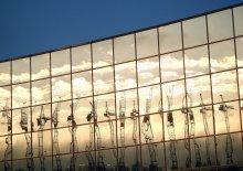 Зеркальное утро / Ледовый дворец в Гомеле