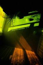 вид, открывающийся человеку, спящему на полу посреди комнаты / 30 сек