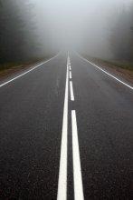 Дорога вникуда / густой туман был ...