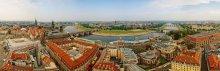 Дрезден. Эльба / Вид с собора Фра́уэнкирхе