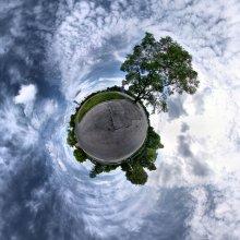 Маленькая планета / Сферическая панорама в проекции маленькая планета. 7 кадров с рук.
