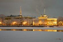 Нева / Зима...Петербург...Вечер...