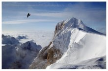 """парить / самая высокая точка в Альпийских Доломитах, Marmolada, 3 342 м. из серии """" Альпийские зарисовки"""""""