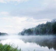 Белое утро... / р.Вилия в 3х км от границы с Литвой