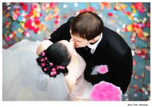свадьба / свадьба жених невеста цветы гости праздник