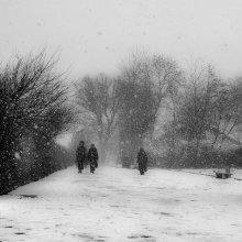 зима....по кругу в квадрате / первый день недели первый день месяца первый день весны а в кёниге снег...