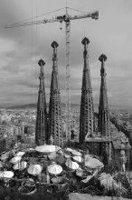 126 / Собор Саграда Фамилия в Барселоне строится уже 126 лет...   Этот ракурс с краном и строительными конструкциями по-своему хорош и, в любом случае, недолговечен...))