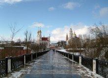 В начале марта / Витебск. Вид на центр города с пешеходного моста через Витьбу.
