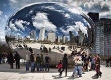 Shiny disco ball / @The Bean Michigan ave. Chicago, Illinois 2010