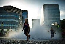 Дождж з-пад зямлі / Горад Портлэнд, ЗША. Травень 2009