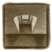 Без названия / ручная авторская печать, трехслойный гуммиарабик, акварельная бумага, 21х21см