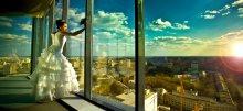 Cвадебная фотография / Снято на последнем этаже самого высокого здания в Воронеже