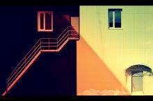 Диагональ. / Геометрия света и тени.
