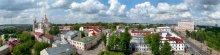 Витебск.Старый город / Вид на северную часть города с обзорной площадки городской ратуши. Май. Облачно.