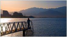 Утренняя рыбалка / в Эйлате утром ранним