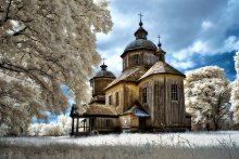 старые церкви черниговщины... / инфракрасная фотография