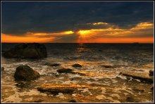 Из-за неба ... / Одесса, пляж сан. им. Чкалова