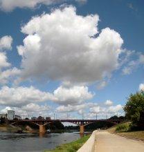 Облако-рай / Сегодня над Кировским мостом в Витебске.