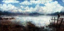озеро. со стороны топей. / глухая давящая тишина. начало весны и ветер полон свежести...