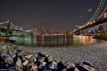 ...между двух мостов... / ...вечер...Canon 30D Tokina 10-17mm (10mm) ISO-100, 3sec, f/4.0......между Бруклинским и Манхэттанским мостами...