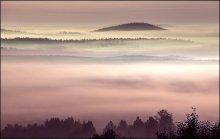 Утро туманное / перед восходом солнца в горах Урала