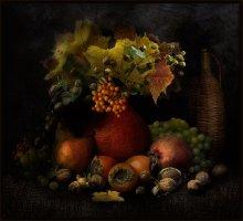 Осеннее изобилие / Из тыквы получается удобная ваза для осеннего букета :)