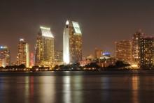 Город в ночи. / Калифорния,Сан Диего.