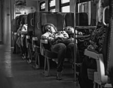 Вечерняя усталость / в аэроэкспрессе