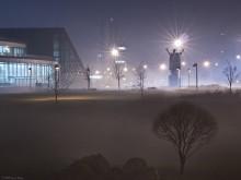 Мистерии тумана / Вечером в тумане даже знакомые места выглядят неожиданно... P.S. Снято одним кадром