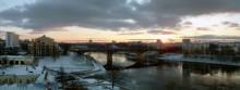 Закат над рекой / Снято с Успенской горы в Витебске 27.11.10 г.