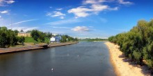 жаркий полдень / река Сож