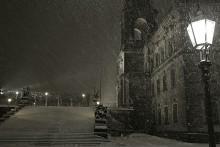 Рождественская завируха / в Дрездене.