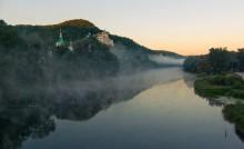 Туман над Северским / Река Северский Донец, вид на Святогорскую Лавру, на рассвете...