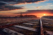 Здесь не ходят больше поезда. / Латвия ЖД Рига-Эргли