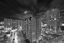 Ночные огни. / вид из окна