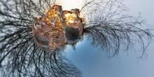 Огненный лёд / Огненный лёд 6 кадров с рук Сфера в проекции маленькая планета Рекомендуется просмотр во флеше http://sferitus.com/panorama/nature/fire_ice.php