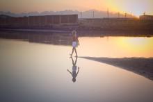 "Small Jesus Walks on Water... / ""... А когда надоест,   Возвращайся назад   Гулять по воде, гулять по воде,   Гулять по воде со мной..."""